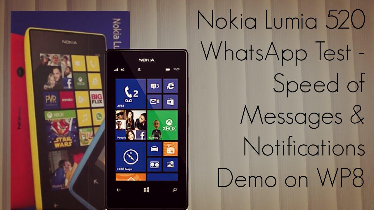 Nokia Lumia 520 Whatsapp Test