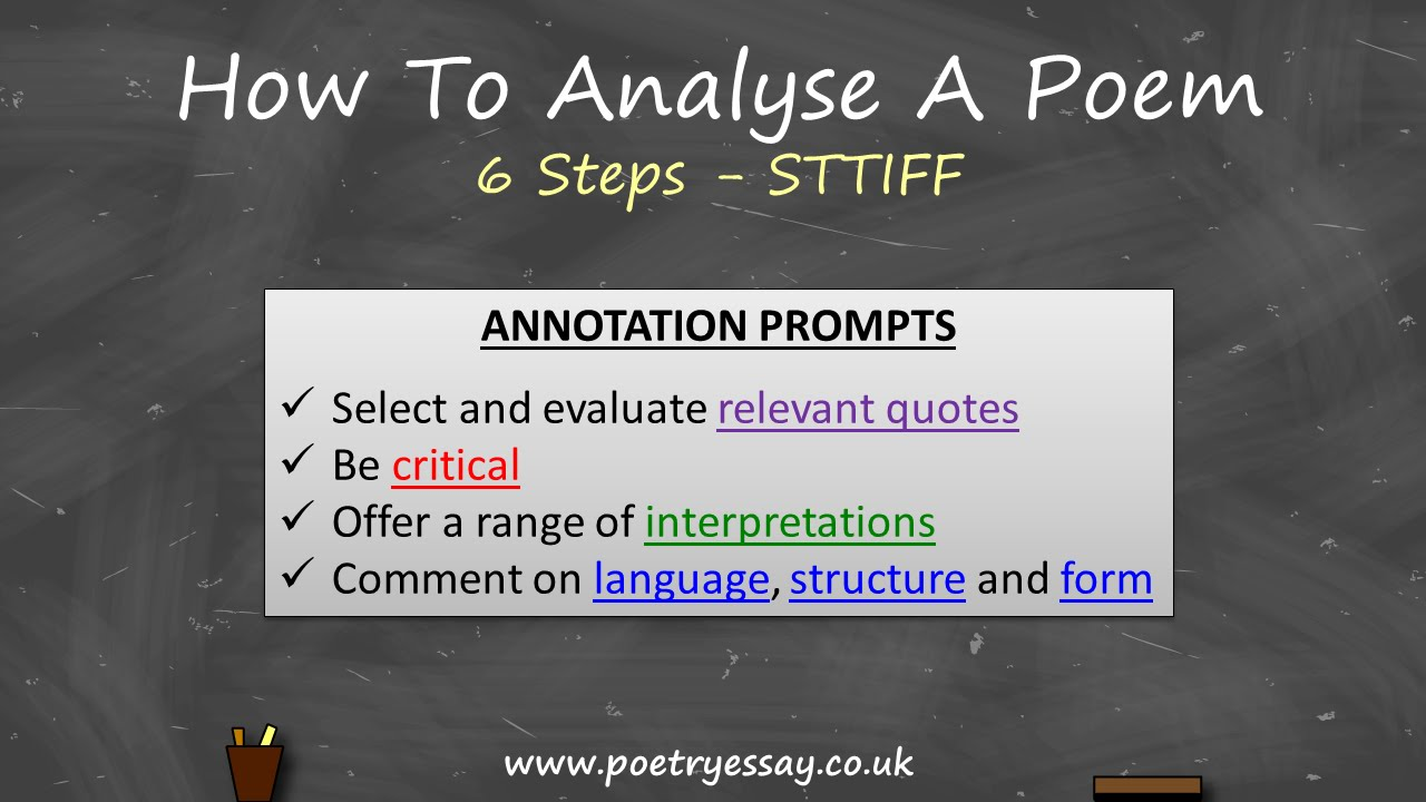 medium resolution of How To Analyse A Poem - YouTube