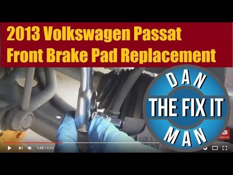2013 Volkswagen Passat Front Brake Pad Replacement – DIY