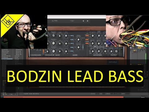 Making A Bass Lead Sound With Arturia Mini V3 (Stephan Bodzin Style Sound Design, FREE PRESET)