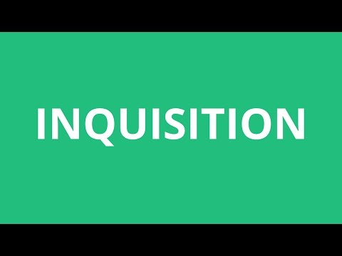 How To Pronounce Inquisition - Pronunciation Academy