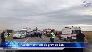 Accident extrem de grav pe E85. Patru persoane au murit, două au fost rănite