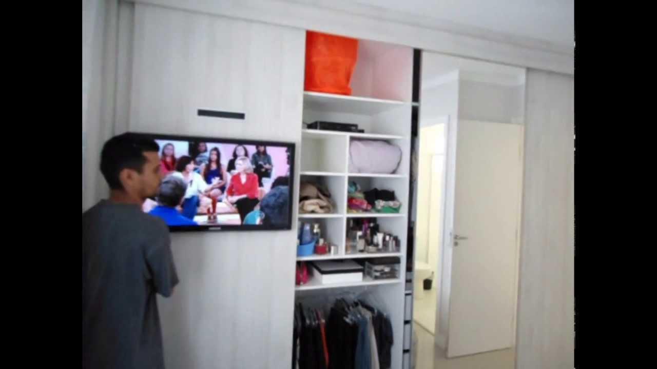 Artesanato Com Cd Reciclado ~ Armário Planejado com TV YouTube
