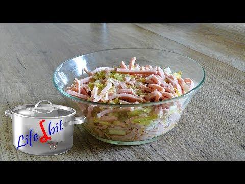 fleischwurstsalat mit zwiebeln