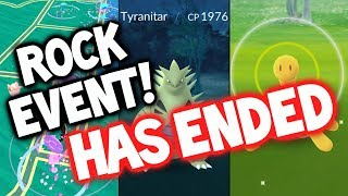 """WOW, THE POKEMON GO ROCK EVENT HAS ENDED """"TOO EARLY!!!"""" ★ POKEMON GO LIVE GAMEPLAY"""
