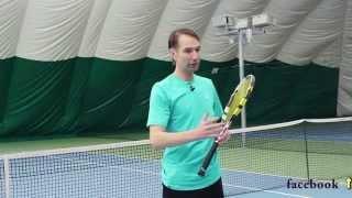 Tennis. Forehand. Scheme Federer & Dimitrov.