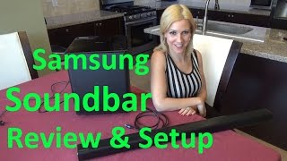 Samsung sound bar review and installation to TV setup
