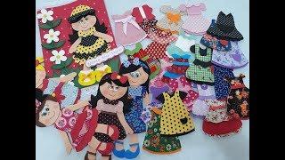 Aprenda a estampar E.V.A e fazer vestidinhos para bonecas