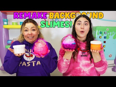 REMAKING BACKGROUND SLIMES CHALLENGE! Slimeatory #625