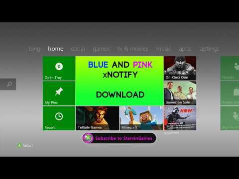Xbox 360 - Blue and Pink xNotify    Download    Coloured xNotify RGH/JTAG