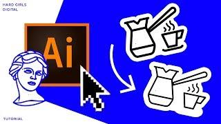 Уменьшаем объем векторного объекта | Adobe illustrator |Уроки Adobe | tutorial illustrator