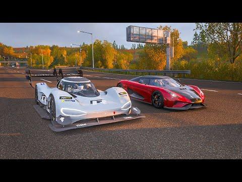 FH4 Drag Race | VW I.D.R vs Koenigsegg Regera | Standing/Rolling!