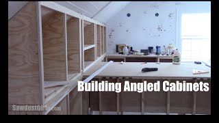 How To Build Angled Cabinets Youtube