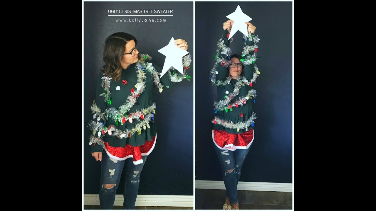 Ugly christmas sweater how to make