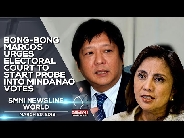 BONG BONG MARCOS URGES ELECTORAL COURT TO START PROBE INTO MINDANAO VOTES