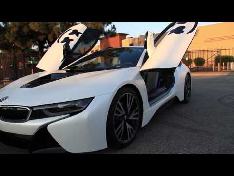 DJ Marshmello's BMW i8 Full Wrap in Satin Pearl White w/ Gloss Black Accents