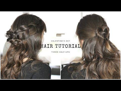 Three Half-Up Styles For Valentine's Day ❤️ Hair Tutorial