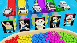 Super Car Toys Water Pools Sliding Tracks Color Balls for Kids Playtime Videos