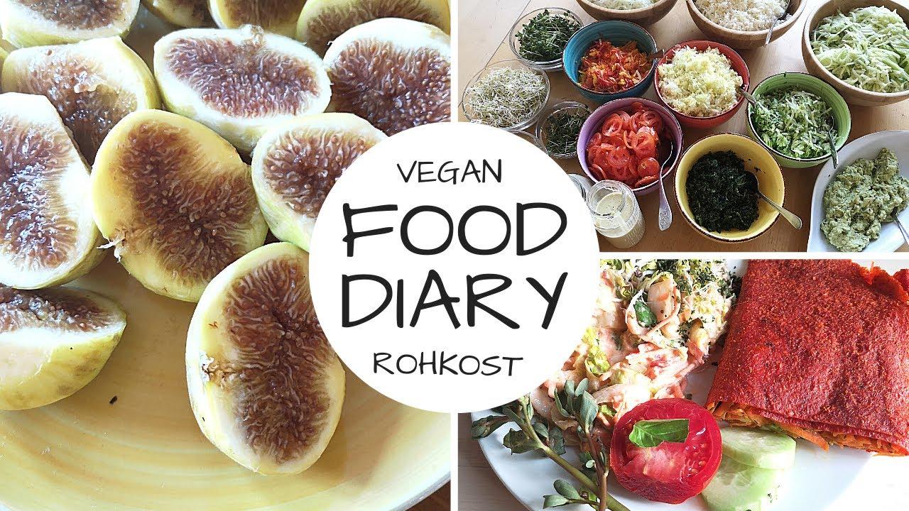 5 Tage FOOD DIARY- Rohkost/vegan/nur eine Mahlzeit am Tag!