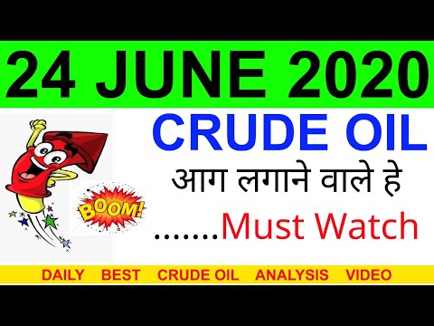 Crude oil complete analysis for 24 JUNE 2020 | crude oil strategy | intraday strategy for crude oil