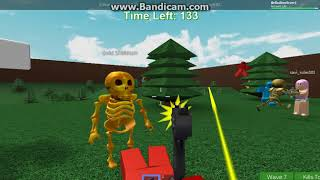 Playing Zombie rush? All the zombies were mean to us! ROBLOX