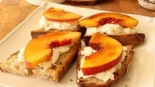 Food Wishes Recipes - Peach Brulee Burrata Bruschetta Recipe - Peach Burrata Bruschetta