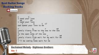 🎙 Unchained Melody - Righteous Brothers Vocal Backing Track with chords and lyrics