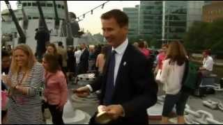 Jeremy Hunt has Olympic mishap as bell flies off handle