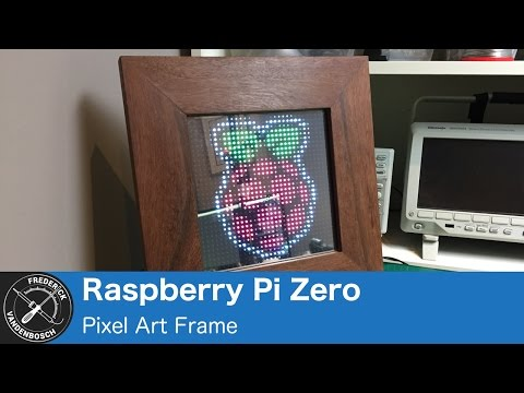 Pixel Art Frame, using 32x32 RGB LED Matrix and Raspberry Pi Zero