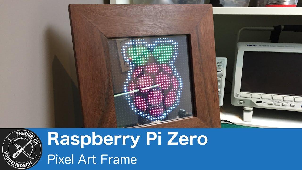 Pixel Art Frame, using 32x32 RGB LED Matrix and Raspberry Pi Zero