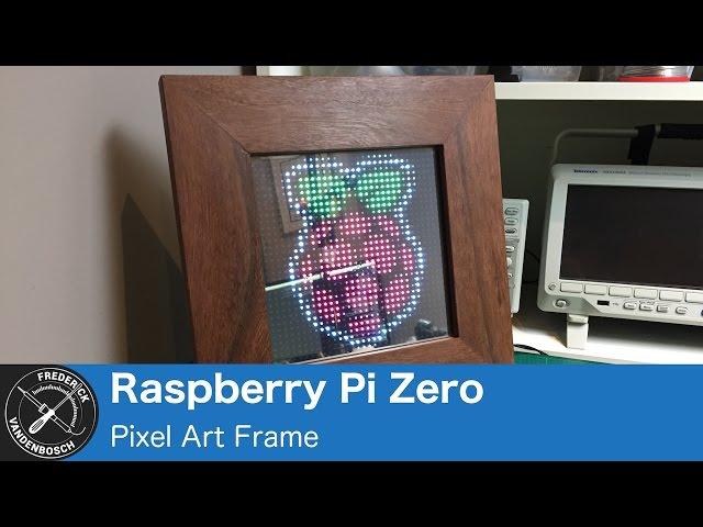Use a Raspberry Pi Zero to Power a Pixel Art Frame