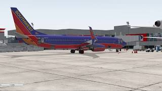 XPlane 11 Atlanta to Dallas Zibo 737 3.34 RC1.27 [Simbuddy Flight]