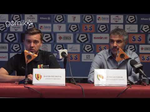 Górnik Zabrze 2-2 Korona Kielce. Konferencja prasowa: Gino Lettieri (09-05-2018)