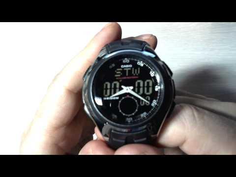 видео инструкция к casio aq-180w-1b