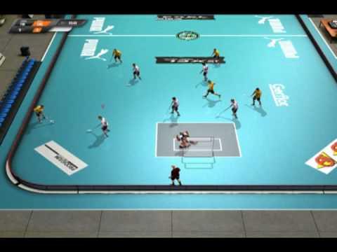 fbl floorball game gameplay demo