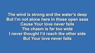 Your Love Never Fails (Jesus Culture) - Lyric video // Instrumental