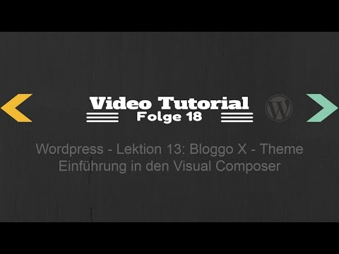 Wordpress Lektion 13 - Einführung In Den Visual Composer