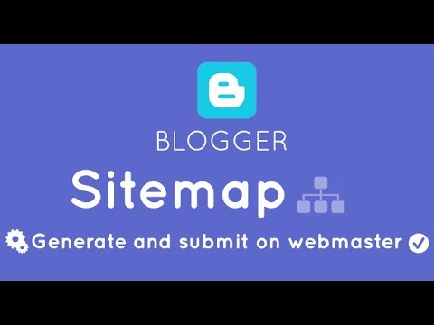 how to add a google sitemap to your blogger blog hindi urdu