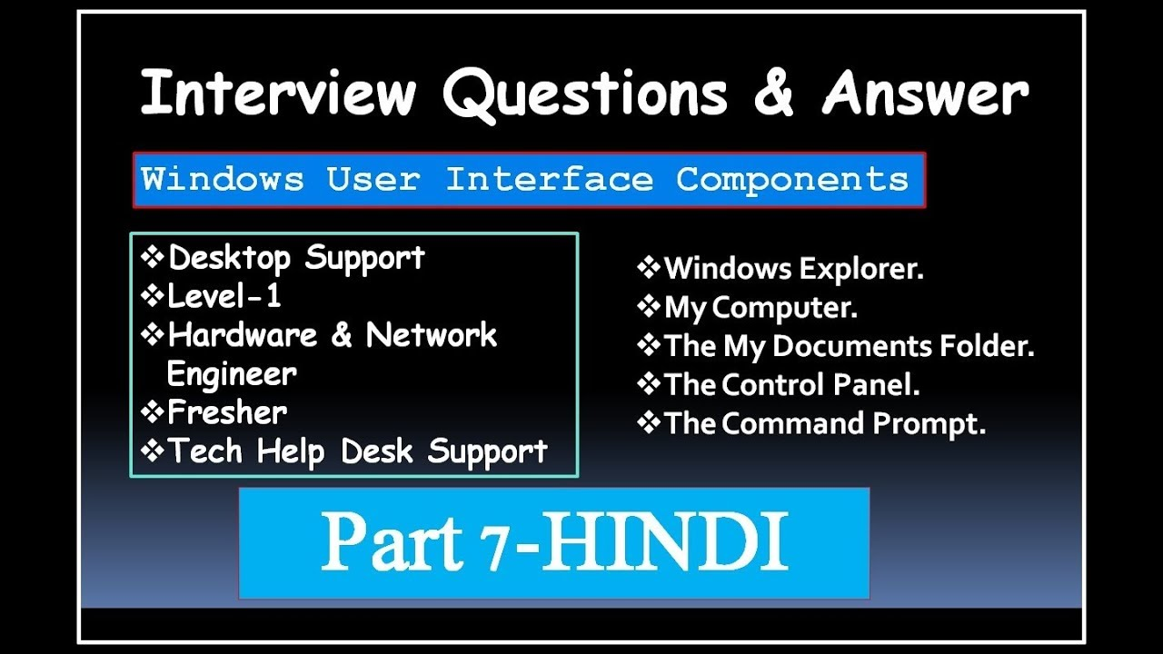 interview questions answer for desktop supportlevel 1hardware engineerfresher part 7 hindi - Network Engineer Interview Questions And Answers