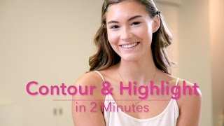 How To: Contour & Highlight in 2 Minutes With Grace Elizabeth