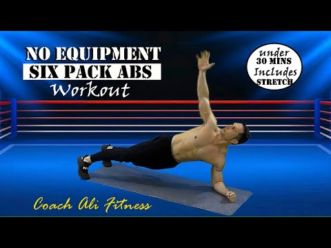 coach ali's no equipment workout for six pack abs  ripped