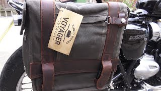 Triumph Bonneville T120, Motorcycle luggage for the distinguished Gentleman Traveller!