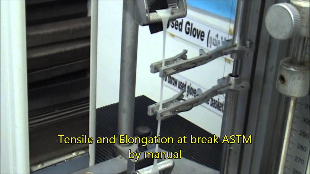 Tensile Strength Elongation Rubber Youtube