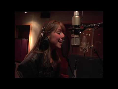 Esmée Denters in the studio with Justin Timberlake  recording  'Outta Here'