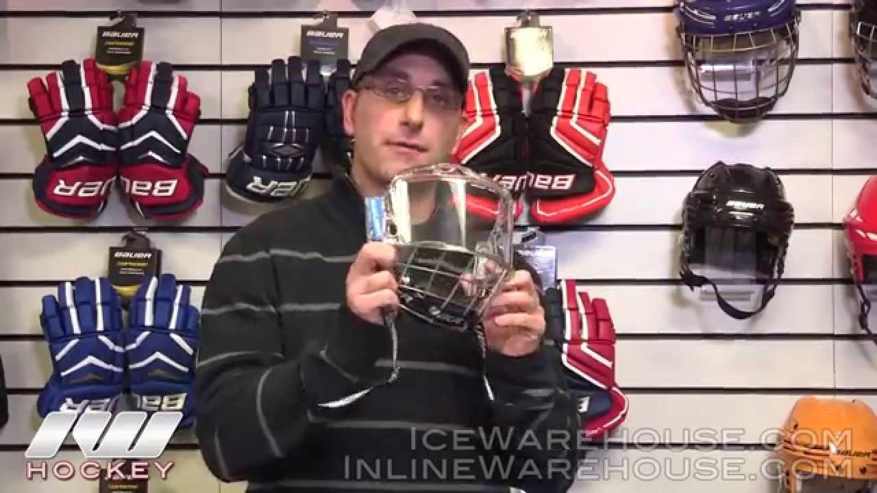 Bauer Hybrid Hockey Helmet Shield Youtube