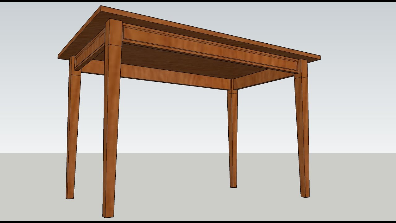 how to make table in sketchup - YouTube