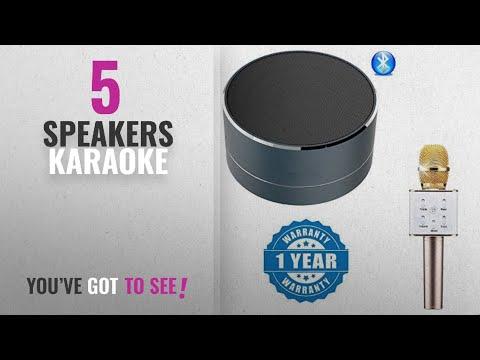 Top 10 Speakers Karaoke [2018]: Captcha BO Portable mini wireless bluetooth speaker with Sd card