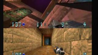 Quake 2 - PS1/PSX - Gameplay- 2 player deathmatch.