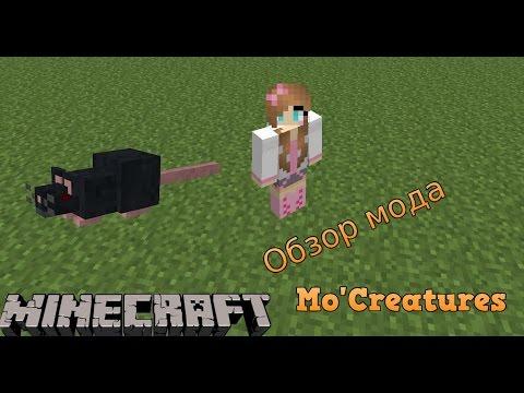Обзор мода Minecraft- Mo'Creatures#1 |Котики и мышки|