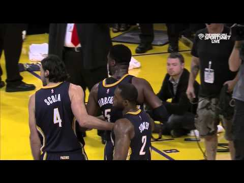 Roy Hibbert and Carlos Boozer scrap: Indiana Pacers at Los Angeles Lakers